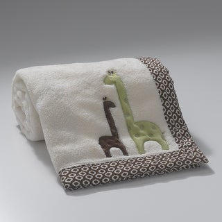 Lambs & Ivy Brown Giraffe Collection Appliqued Blanket