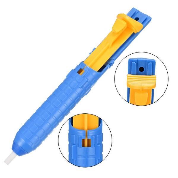 "Desoldering Pump 7.5/"" Manual Vacuum Solder Sucker Removal Hand Tool Plastic Blue"