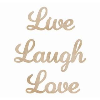Wood Flourishes 3/Pkg-Live, Laugh, Love Words - live, laugh, love words