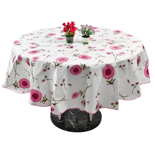 shop home picnic round sunflower pattern tablecloth table cloth cover pink 60 inch free. Black Bedroom Furniture Sets. Home Design Ideas