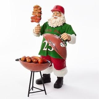 "Santa Claus Tailgating Grill Master - 10"" High Figurine Holiday Christmas Decor"