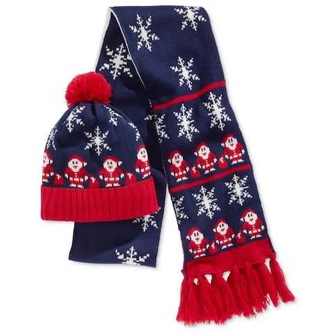 Hooked Up By Iot Womens 2Pc Santa Claus Beanie Hat - One Size
