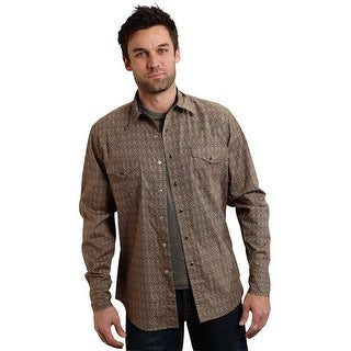 Roper Western Shirt Men Performance Snap L/S Brown 03-001-0064-0621 BR