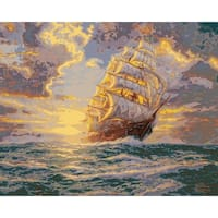 """Thomas Kinkade Paint By Number Kits 16""""X20""""-Courageous Voyage"""