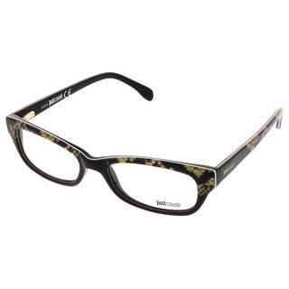 Just Cavalli JC0473/V 005 Brown Snakeskin Print Rectangle Optical Frames - 52-17-135