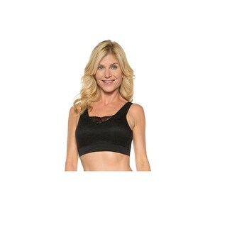 Seamless Bra with Lace Overlay - Wireless with Support