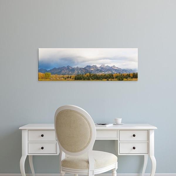 Easy Art Prints Panoramic Image 'Blacktail Ponds Overlook, Teton Range, Grand Teton National Park, Wyoming' Canvas Art
