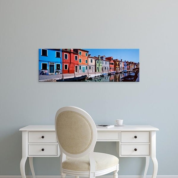 Easy Art Prints Panoramic Images's 'Houses at the waterfront, Burano, Venetian Lagoon, Venice, Italy' Canvas Art