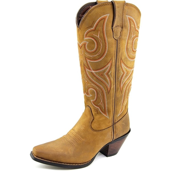 Durango Crush Women Pointed Toe Leather Brown Western Boot