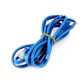 8Ft Long CAT 5E RJ 45 8P8C Modular Ethernet Router Switch LAN Network Cable Blue