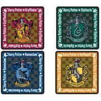 Harry Potter School Crest 4-Piece Coaster Set: Square - Multi