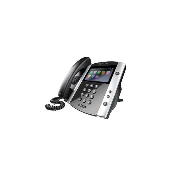 Polycom 2200-48600-001 VVX 601 Corded Business Media Phone System 16 Line PoE-AC Adapter Included