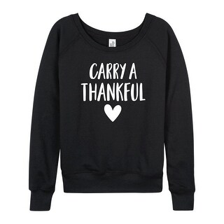 Carry A Thankful Heart - Ladies Lightweight French Terry Pullover