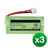 Replacement Battery For GE 25055RE1 / H5401RE1 Cordless Phones - 6010 (500mAh, 2.4V, Ni-MH) - 3 Pack