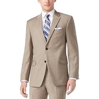 Tommy Hilfiger Mens Two-Button Suit Jacket Wool Sharkskin Trim - 40L