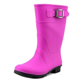 Kamik Raindrops Youth Round Toe Synthetic Pink Rain Boot