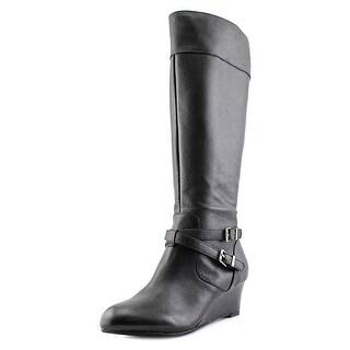 Giani Bernini Kalie Wide Calf Women Round Toe Leather Knee High Boot