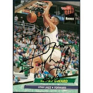 Signed Howard Stephen Utah Jazz 1993 Fleer Basketball Card P To Jason autographed
