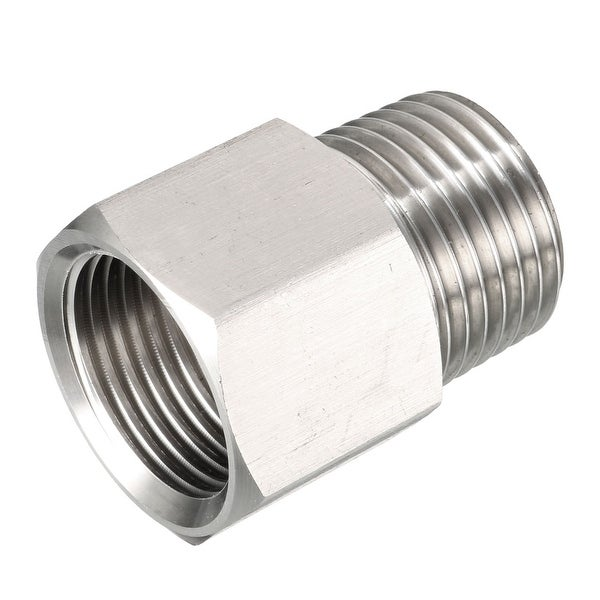 Pipe Fitting 1//2 NPT Male X Metric M20 M20X1 M20X1.0 Male Brass Adapter Straight