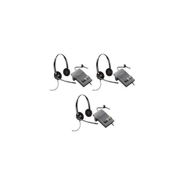 Plantronics EncorePro HW520 with M22 (3-Pack) Binaural Noise-Cancelling Headset