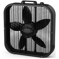 Lasko Products B20401 20 in. Black Box Fan With 3 Quiet Speeds