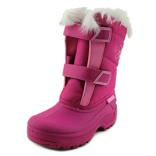 Tundra Hudson Youth Round Toe Synthetic Pink Snow Boot