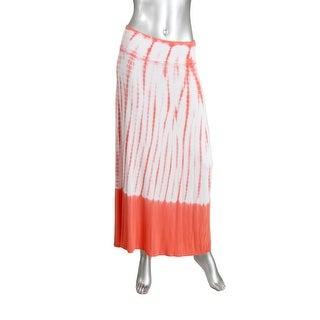 Kensie Womens Ombre Tie-Dye Maxi Skirt