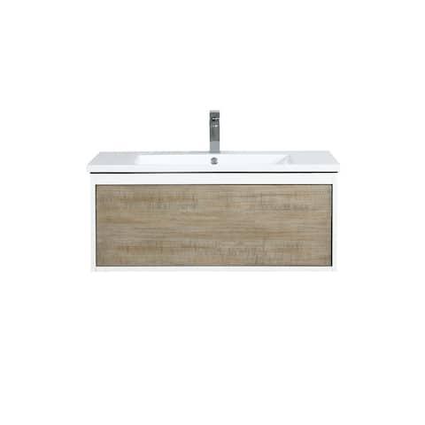 Lexora Scopi 36 inch Single Bathroom Vanity with Faucet