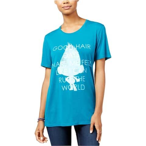 Dreamworks Womens Trolls Good Hair Day Graphic T-Shirt