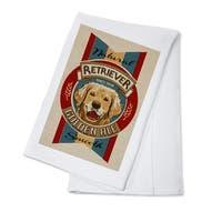 Golden Retriever Ale - Retro Beer Ad - LP Artwork (100% Cotton Towel Absorbent)