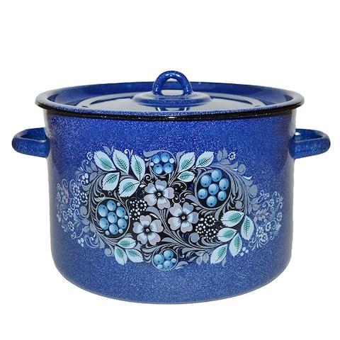 STP Goods Blueberru Enamel on Steel Blue Stock Pot