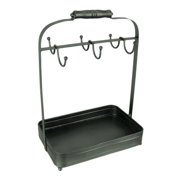 Rustic Farmhouse Metal Coffee Mug Stand with Tray. Opens flyout.
