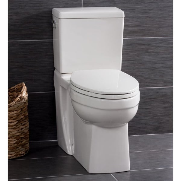 Miseno MNO370C Two-Piece High-Efficiency Elongated ADA Height Toilet with Slow Close Seat, Decorative Trip Lever, and Wax Ring