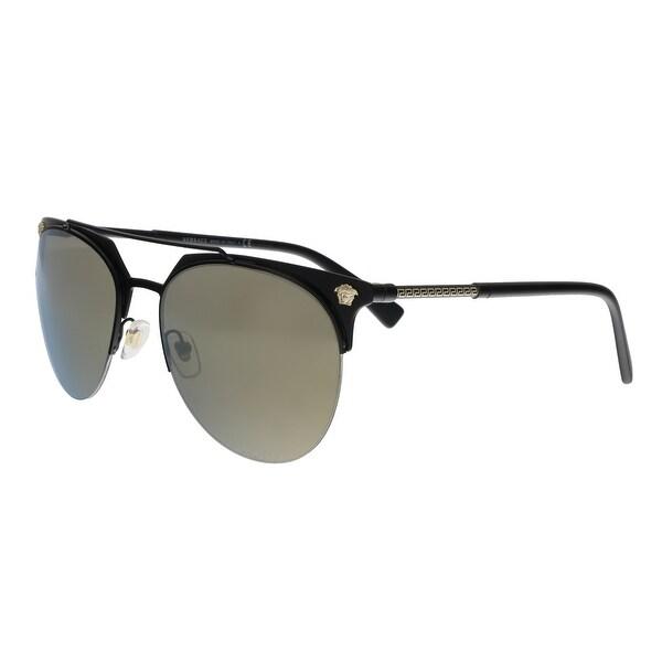 e7a55a7ccee Shop Versace VE2181 12615A Matte Black Aviator Sunglasses - No Size ...