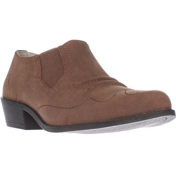 Dolce by Mojo Moxy Latigo Slip-on Western Ankle Booties, Sand - 9 us