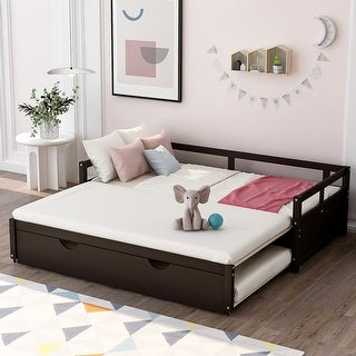 Link to Extending Daybed with Trundle, Wooden Daybed with Trundle Similar Items in Bedroom Furniture