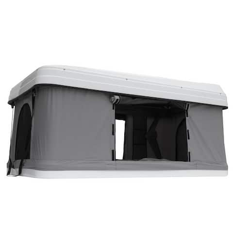 Trustmade White Hard Shell Light Gray Rooftop Tent 2mins Setup 100% Waterproof 50mm Mattress Pick Up Available 1 Piece / Carton