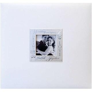 "MBI Expressions Post Bound Album W/Window 8""X8""-Wedding - White"
