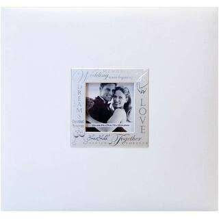 "MBI Expressions Post Bound Album W/Window 8""X8""-Wedding - White