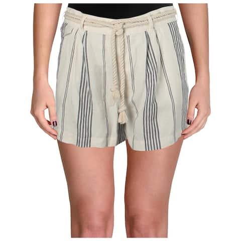 Polo Ralph Lauren Womens Casual Shorts Linen Striped - 14