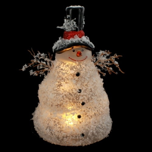 Lighted Melting Snowman