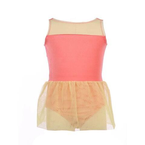 Veva by Very Vary Little Girls Orange Rosa Dance Dress