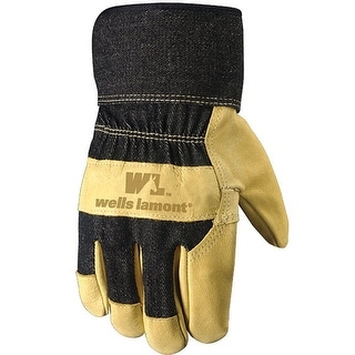 Wells Lamont 3300XL Pigskin Leather Palm Gloves, Extra Large, Black