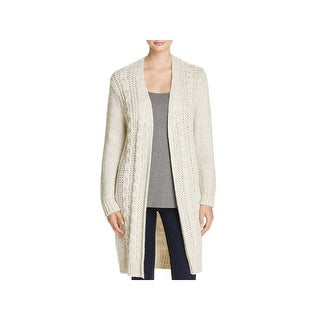 Cupcakes and Cashmere Womens Neil Cardigan Sweater Cable Knit Open Front