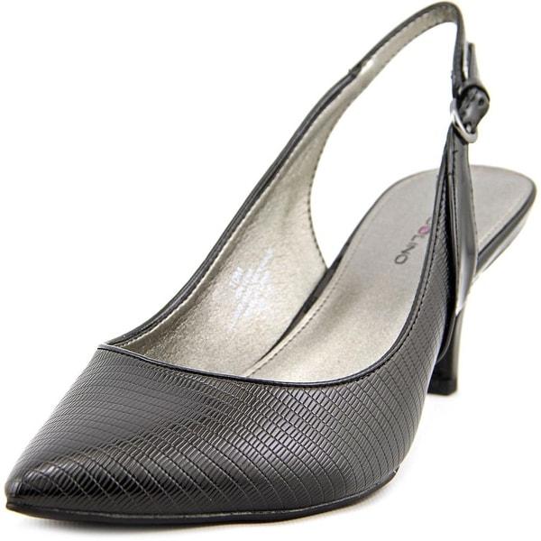Bandolino Illena Women  Pointed Toe Synthetic Black Slingback Heel