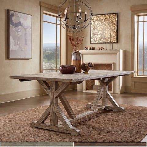 Paloma Antique Oak or Brown Reclaimed Wood Dining Table by iNSPIRE Q Artisan