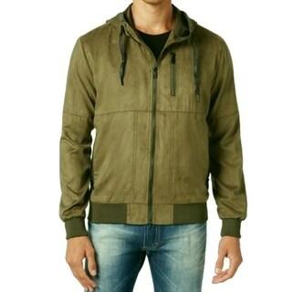 Sean John NEW Green Mens Size 3XL Faux-Suede Full Zip Hoodie Jacket