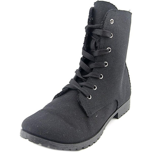 Dirty Laundry Primary Women Round Toe Canvas Ankle Boot