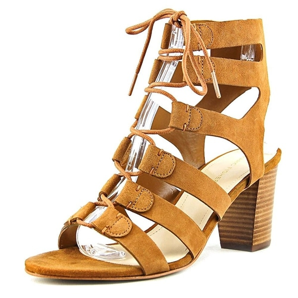 Marc Fisher Womens Patsey Leather Open Toe Casual Strappy Sandals