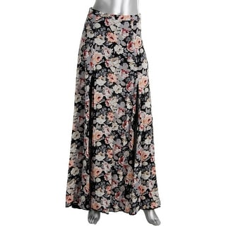 Cotton Candy Womens High Slits Lined Maxi Skirt - S